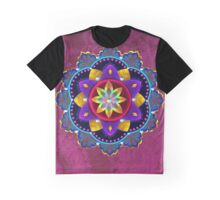 Lotus On Fractal Rouge Graphic T-Shirt