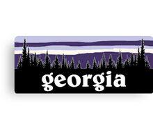 Purple Georgia Canvas Print