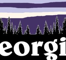 Purple Georgia Sticker