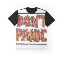 Hitchhiker's Guide to the Galaxy Don't Panic Graphic T-Shirt