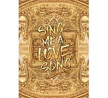 Sing Me A Love Song Opera Garnier Antique Sheet Music Photographic Print