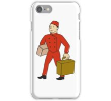Bellboy Bellhop Carry Luggage Cartoon iPhone Case/Skin