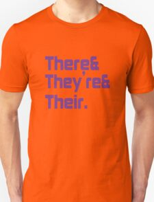 There They're and Their funny nerd geek geeky T-Shirt