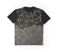 Ab Half and Half Gold Graphic T-Shirt