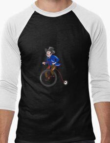 Gentleman Riding Penny-farthing Cartoon T-Shirt