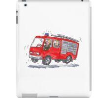 Red Fire Truck Fireman Caricature iPad Case/Skin