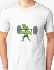 Sobek Weightlifter Lifting Barbell Caricature Unisex T-Shirt
