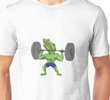Sobek Weightlifter Lifting Barbell Caricature Unisex T-Shirt