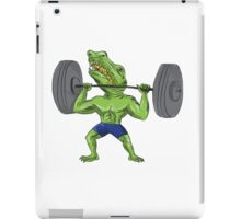 Sobek Weightlifter Lifting Barbell Caricature iPad Case/Skin