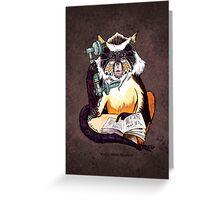 Wolf's Mona Monkey II Greeting Card