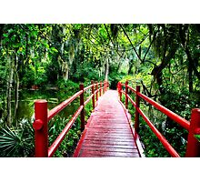 Little Red Footbridge Photographic Print