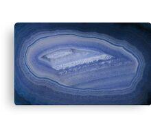 Blue Agate Stone Canvas Print