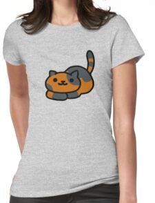 Neko atsume spud Womens Fitted T-Shirt