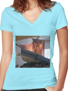 The Knitted Ship Women's Fitted V-Neck T-Shirt