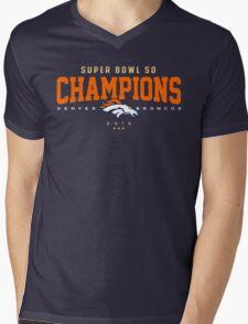 Broncos champions HORZ Mens V-Neck T-Shirt