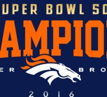 Broncos champions HORZ Sticker