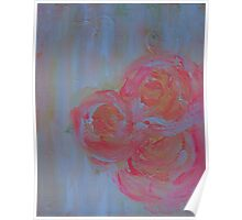 Tangerine Flowers Abstract Poster