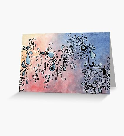 Abstract Color II Greeting Card