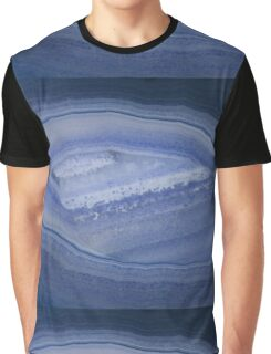 Blue Banded Agate Stone Graphic T-Shirt