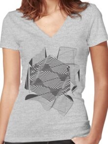 Gravitational Waves : Discovery 2016 Women's Fitted V-Neck T-Shirt