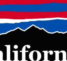 California Red White and Blue Sticker