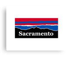 Sacramento Red White and Blue Canvas Print