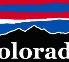 Colorado Red White and Blue Sticker