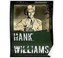 Hank Williams Water Color Art Poster