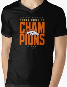 Broncos champions BLUE2 Mens V-Neck T-Shirt