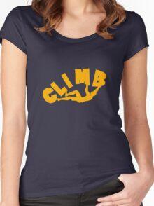 Climbing funny nerd geek geeky Women's Fitted Scoop T-Shirt