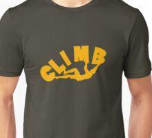 Climbing funny nerd geek geeky Unisex T-Shirt