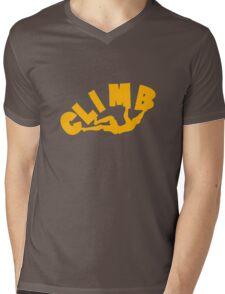 Climbing funny nerd geek geeky Mens V-Neck T-Shirt