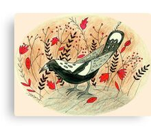 Baby the Magpie Canvas Print