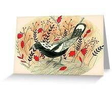 Baby the Magpie Greeting Card