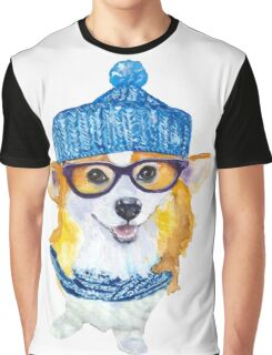 the corgi dog  Graphic T-Shirt