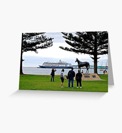 Tourists Greeting Card