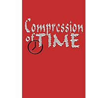 Compression of Time funny nerd geek geeky Photographic Print