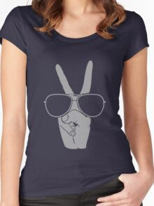 Cool Hand Peace funny nerd geek geeky Women's Fitted Scoop T-Shirt