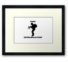 The Terminator by #fftw Framed Print