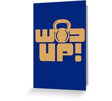 Crossfit Gear Fitness Exercise Weight lifting funny nerd geek geeky Greeting Card