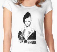 Uta blackwhite 003 - Tokyo Ghoul Women's Fitted Scoop T-Shirt