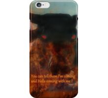 BULL FROM HELL iPhone Case/Skin