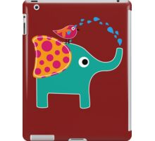 Cute Elephant and Bird funny nerd geek geeky iPad Case/Skin