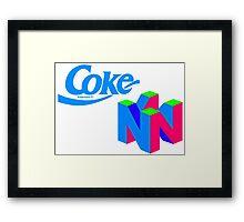 Coke Nintendo Framed Print