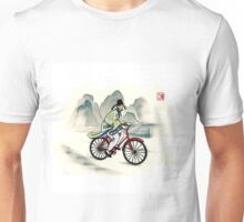 A bike ride in ancient China  Unisex T-Shirt
