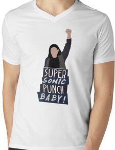 Super Sonic Punch - Cisco Mens V-Neck T-Shirt
