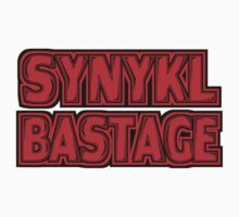 Synykl Bastage Text  One Piece - Long Sleeve