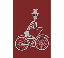 Day of the Dead Skeleton Bicycle funny nerd geek geeky Photographic Print