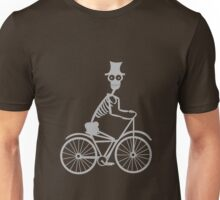Day of the Dead Skeleton Bicycle funny nerd geek geeky Unisex T-Shirt