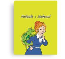 Frizzle > School Green Canvas Print